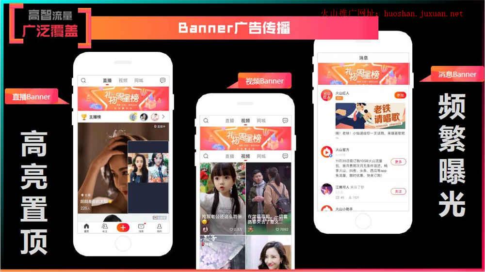 火山投放banner广告资源位
